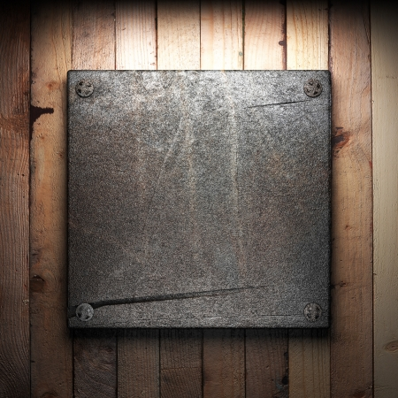 iron plate on wall Stock Photo - 16077410