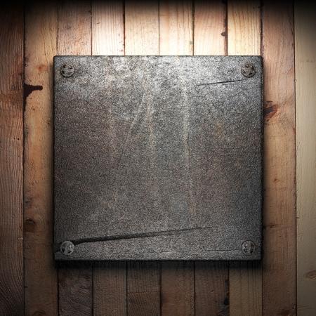 iron plate on wall Stock Photo - 16077410
