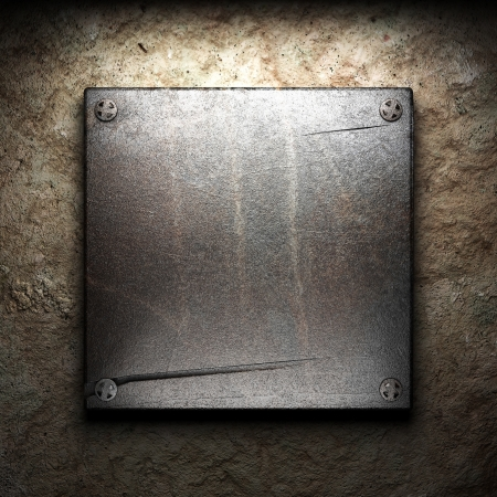 iron plate on wall Stock Photo - 16077372
