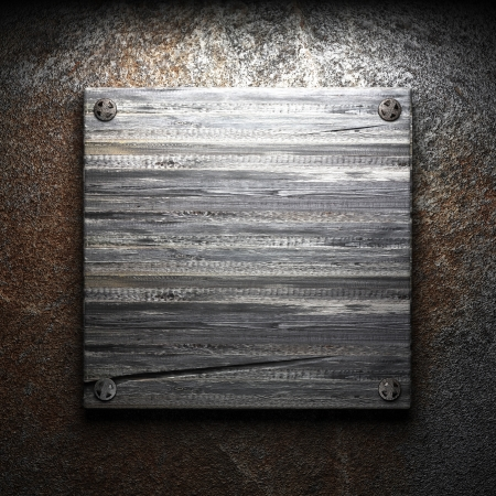 distressed wood: wooden plate on wall