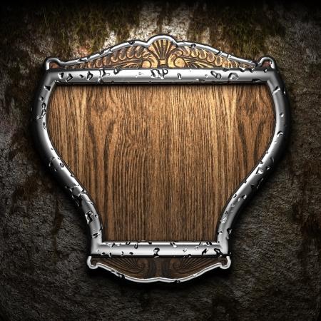 shield on tha wall Foto de archivo