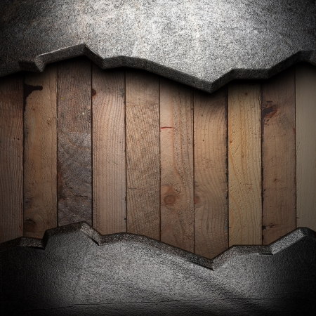 metal on wooden wall Stock Photo - 16077337