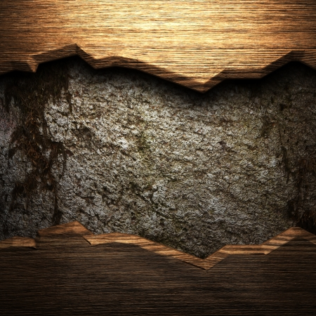 distressed wood: wood on the wall