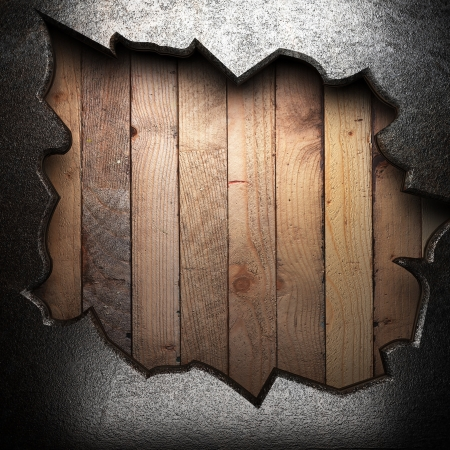 metal on wooden wall Stock Photo - 16077349