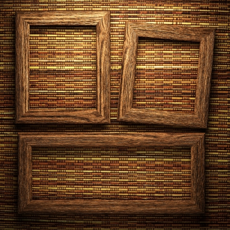 wooden plate on wall photo