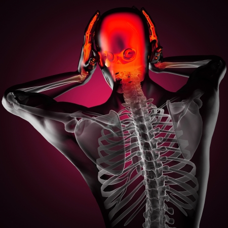 human radiography scan made in 3D Stock Photo - 16160096