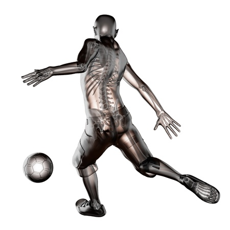 soccer game player made in 3D photo