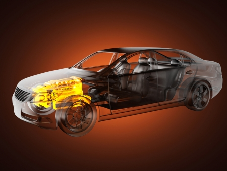 transparent car concept made in 3D graphics Stock Photo - 16160322