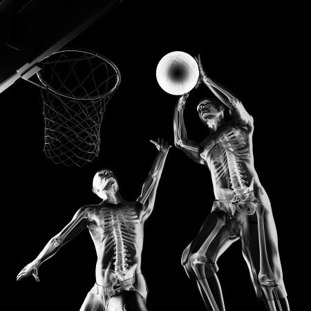 basketball game player made in 3D photo