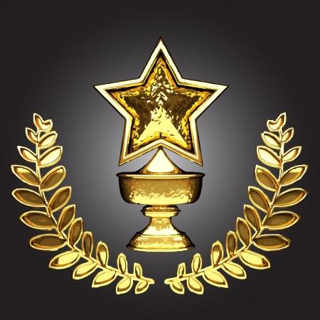 vector de oro premio