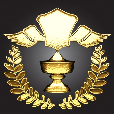 vector golden award