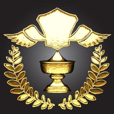 vector golden award