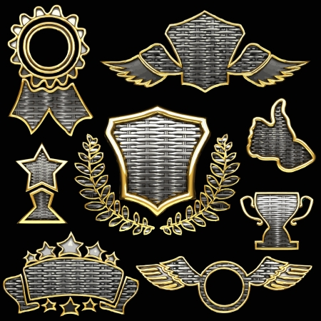 vector silver  award Vector