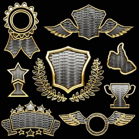 vector silver  award Stock Vector - 16318333