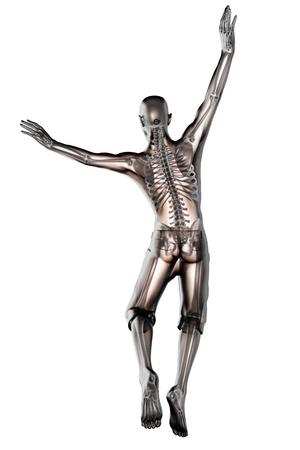 roentgen: jump man radiography made in 3D
