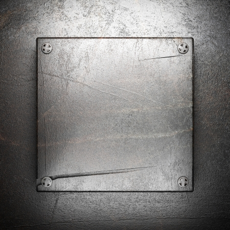 metall background made in 3D photo