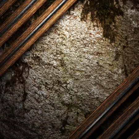 wood on wall Stock Photo - 16517011