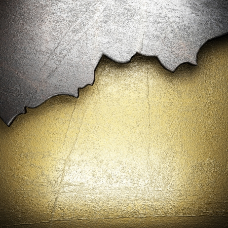 metal on gold made in 3D photo