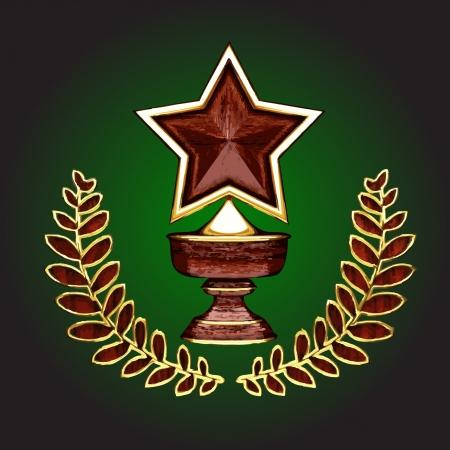 wooden award Stock Vector - 16588875