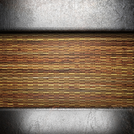 metal on wall made in 3d Stock Photo - 16642015