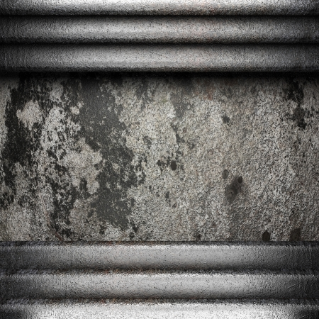 metal on wall made in 3D Stock Photo - 16642018
