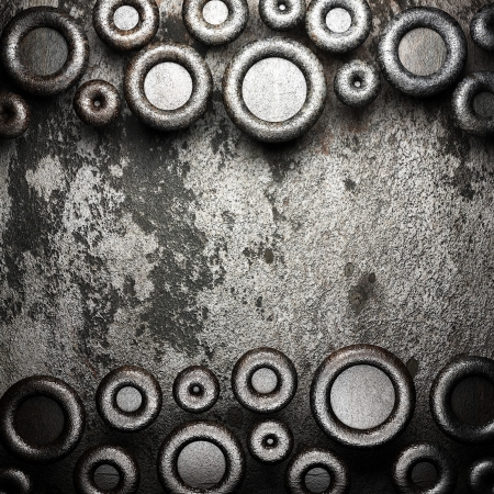 metal on wall made in 3D Stock Photo - 16642210