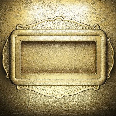 golden background made in 3D photo