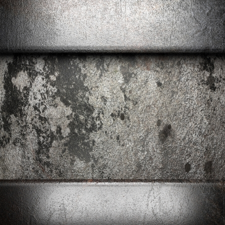 metal on wall made in 3D Stock Photo - 16642186