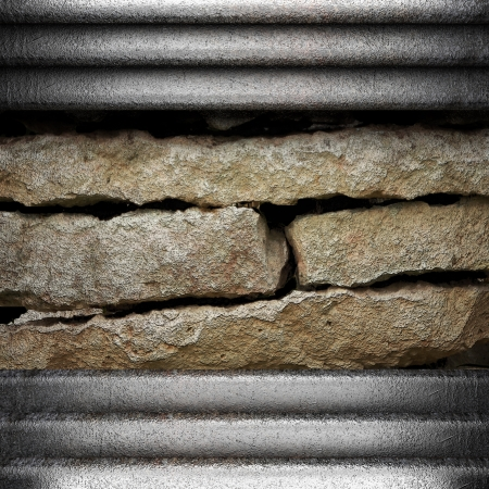 metal on wall made in 3D Stock Photo - 16642151