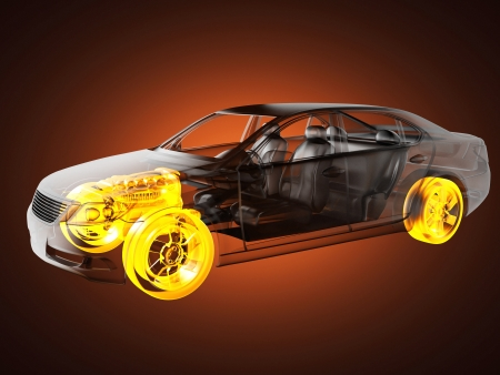 transparent car concept made in 3D graphics Stock Photo - 16687634