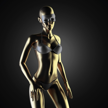 golden woman photo