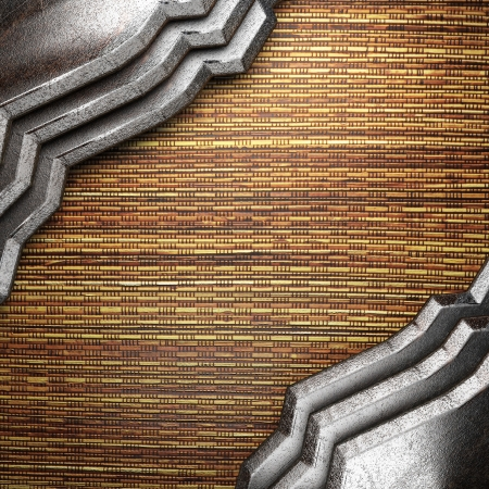 metal on wall made in 3d Stock Photo - 16835529