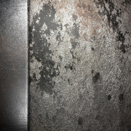 metal on wall made in 3D Stock Photo - 16835537