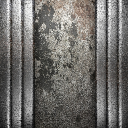 metal on wall made in 3D Stock Photo - 16835539