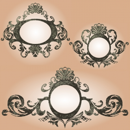 vector vintage frames set Vector