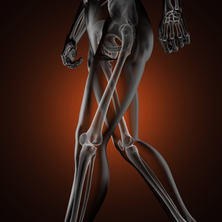 human radiography scan made in 3D Stock Photo - 16844979