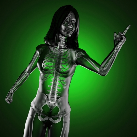 cute woman radiography made in 3D Stock Photo - 16910007