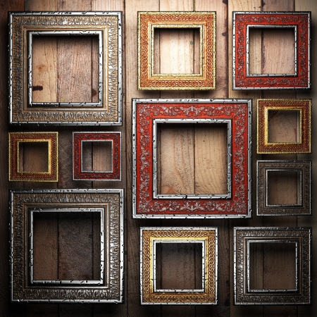 Antique ornament frame made in 3d photo