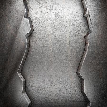 cromo: de metal en la pared hecho en 3d