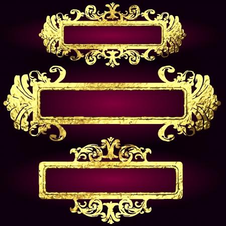 golden frames set Stock Vector - 16989577