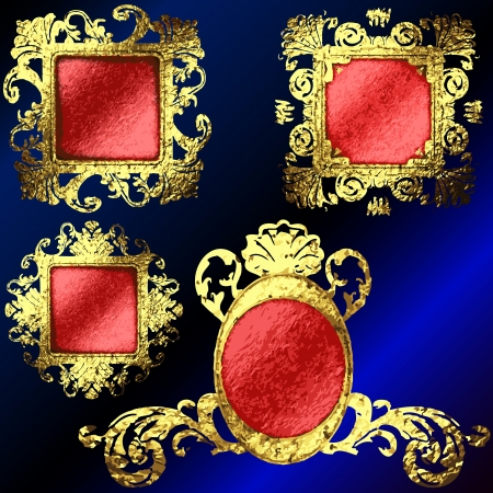 golden frames set Stock Vector - 17013586