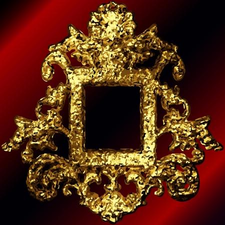 golden frames set Stock Vector - 17013576