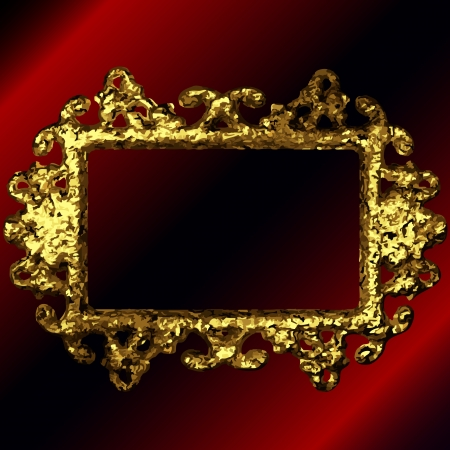 golden frames: vector golden frames set