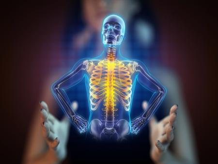 radiografia scansione umano sulla ologramma