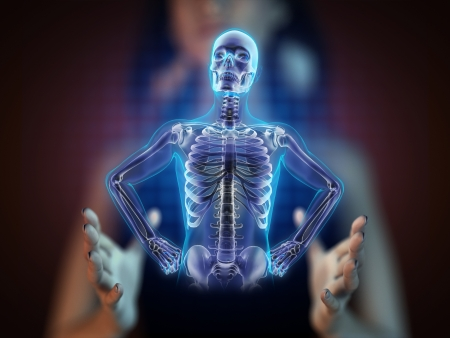 human radiography scan on hologram Stock Photo - 17645184