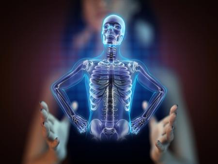roentgen: human radiography scan on hologram
