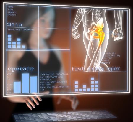 human radiography scan on hologram