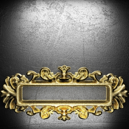 golden vintage ornament on wall Stock Photo - 17927960