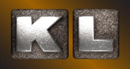 l plate: Metal figure