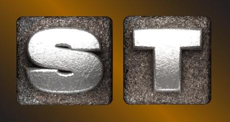 t square: Vector Metal figure